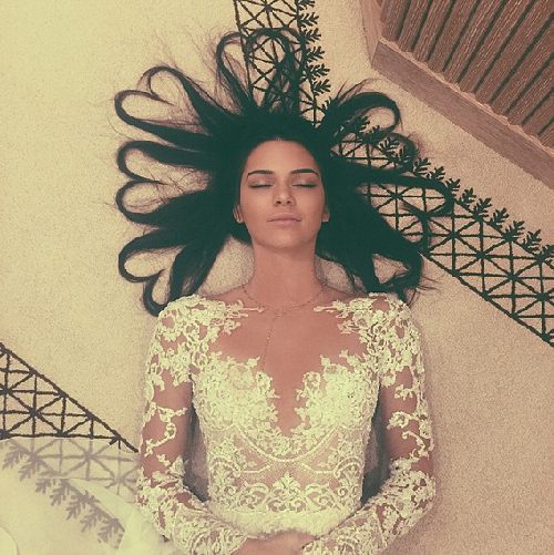 Instagram pic with the most likes, as of now - heart-haired Kendall