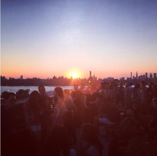 Diane Kruger's sunset on her Instagram profile