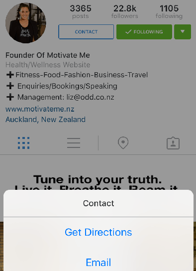 instagram contact